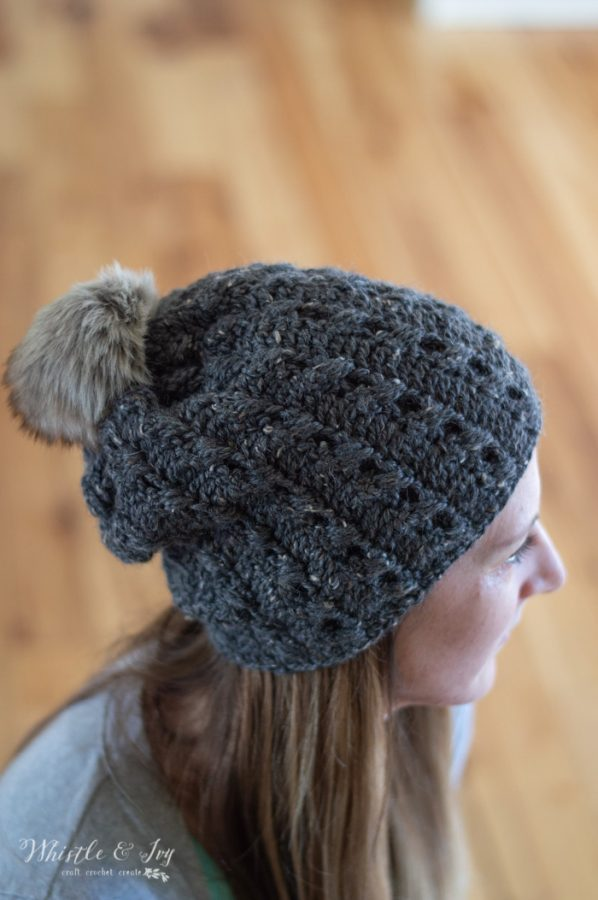 Cobblestone Hat - Faux Crochet Cables Hat - Free Crochet Pattern