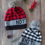It's Not Knit Crochet Buffalo Plaid Hat – Free Crochet Pattern