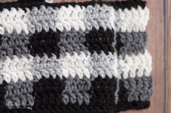 crochet stitches for black and white plaid free crochet pattern
