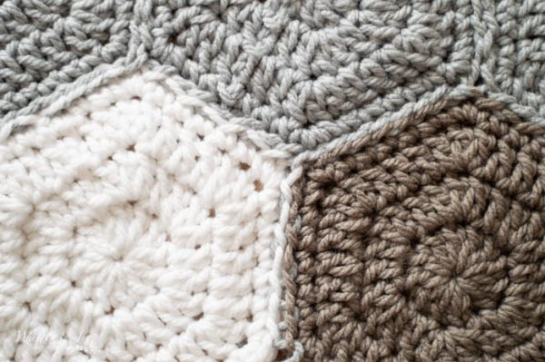 crochet hexagons free pattern sewn together
