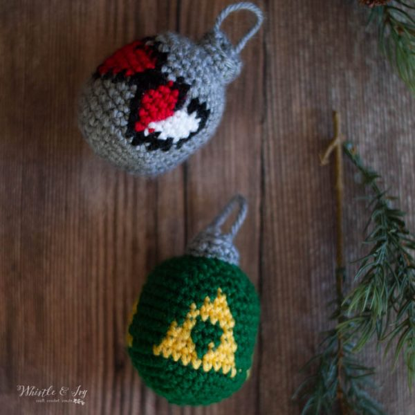crochet triforce ornament crochet pattern