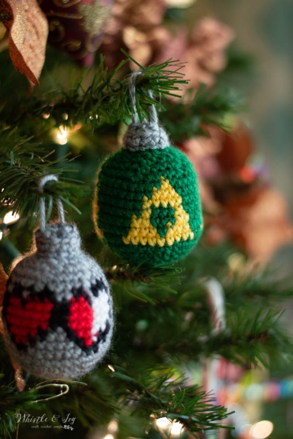 crochet pattern zelda triforce and health hearts