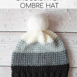 Ombre Cross Stitch SC Hat – Free Crochet Pattern