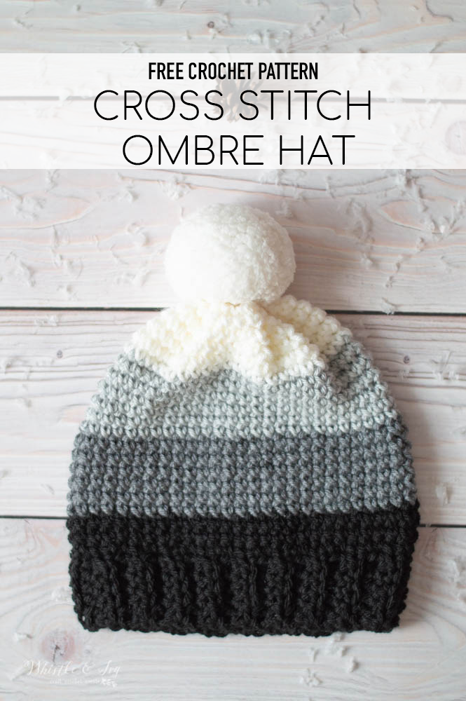 cross stitch sc hat stitch pattern slouchy free crochet pattern