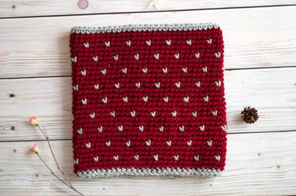 snowfall fair isle cowl free crochet pattern