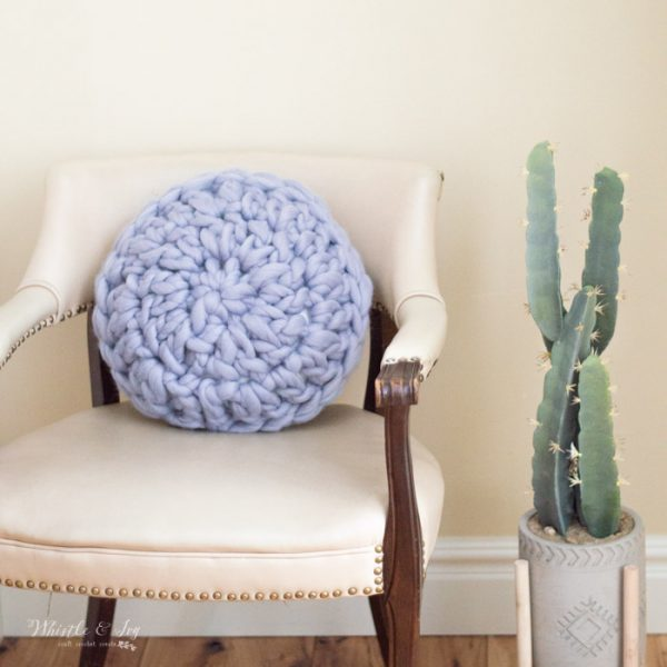 crochet home decor super bulky crochet pillow