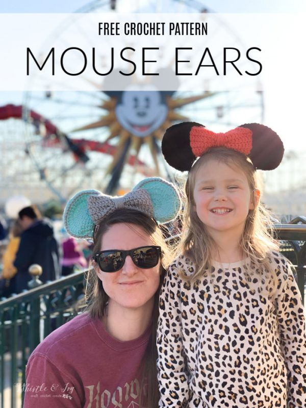 crochet mouse ears for Disneyland
