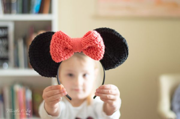 crochet mouse ears Minnie Mouse ears free crochet pattern