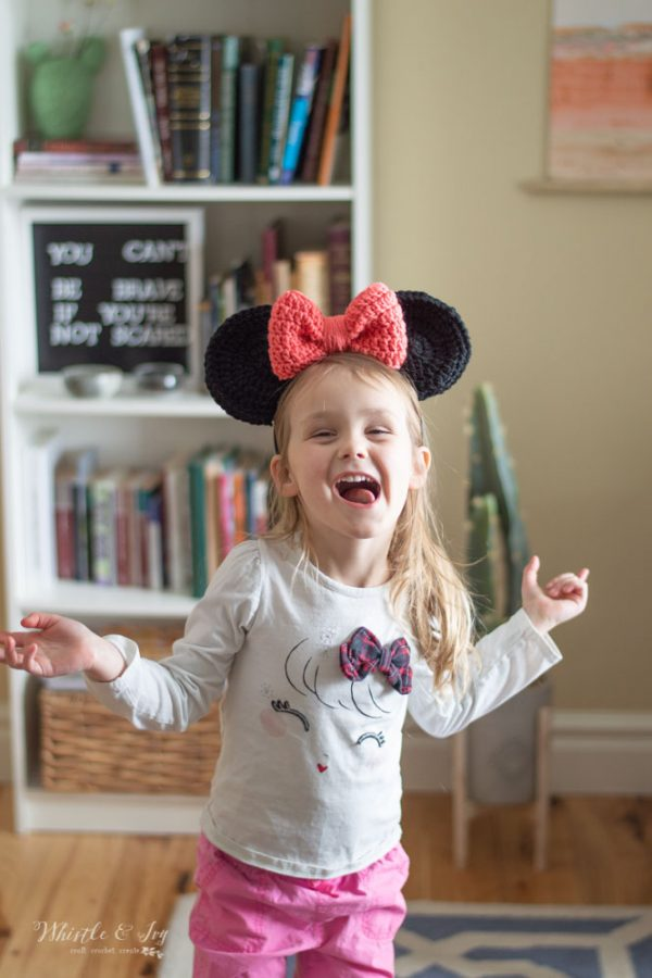 free crochet pattern Minnie Mouse ears for Disneyland