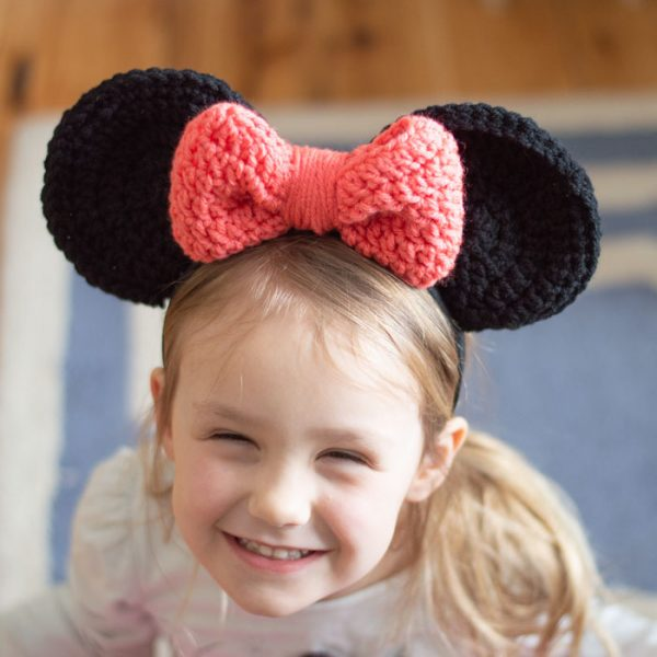 free crochet pattern Minnie Mouse ears