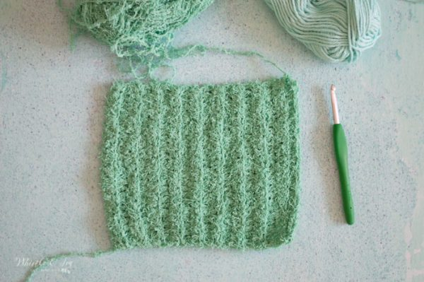 how to crochet cactus scrubby with free crochet pattern