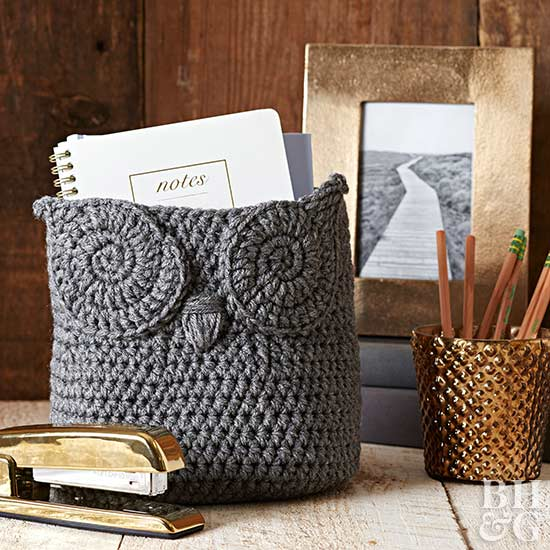 Crochet Owl Basket