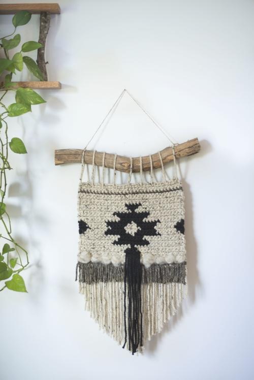 Free Crochet Pattern for the Geometric Wall Hanging