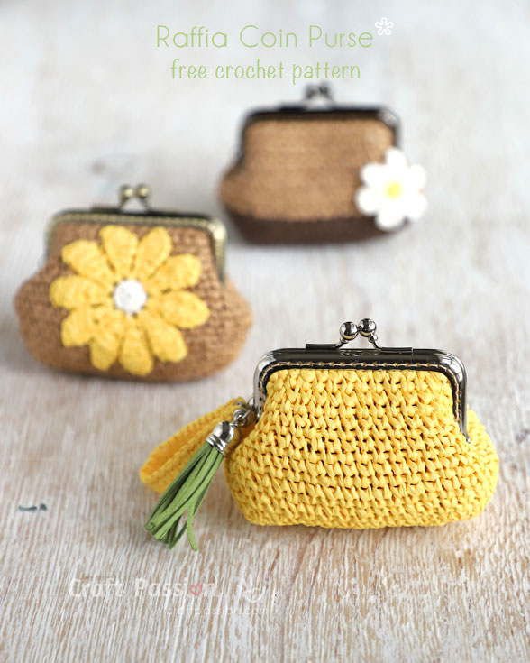 Raffia Coin Purse - Free Crochet Pattern | Craft Passion • Page 2 of 2