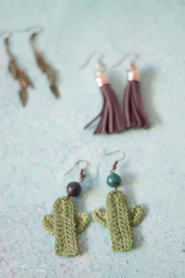 crochet cactus earrings crochet pattern diy make them yourself