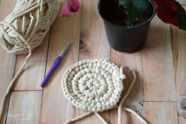 crochet round basket pattern