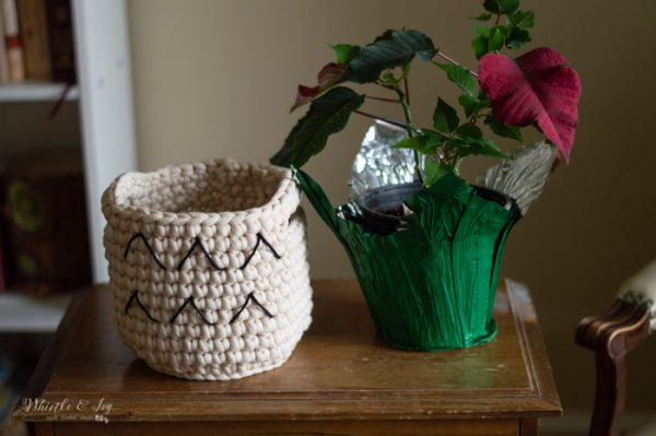 how to crochet a basket crochet pattern boho ideas
