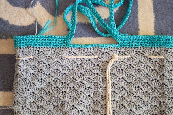 crochet straw raffia summer beach tote free crochet pattern