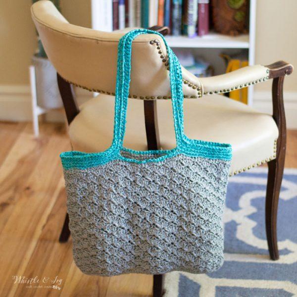 summer beach bag crochet pattern straw raffia yarn