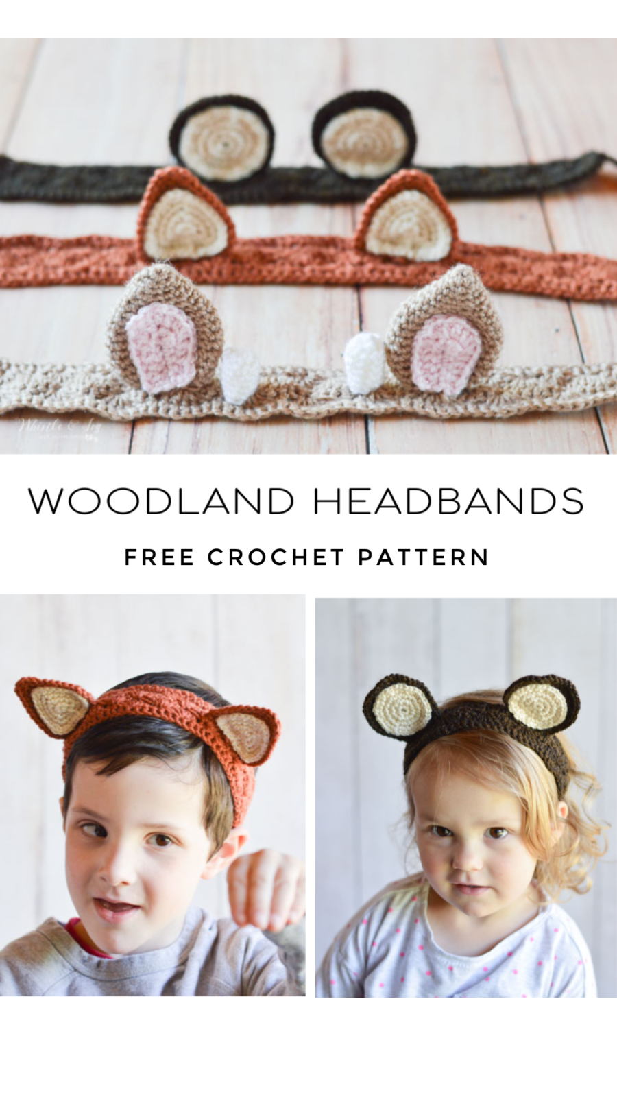 crochet woodland animal headband crochet pattern free