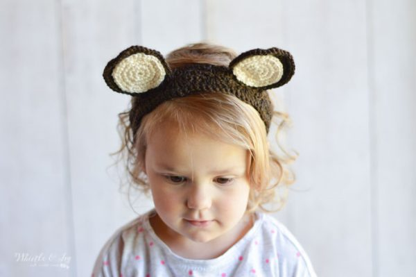 crochet woodland animal ears headband bear crochet pattern free