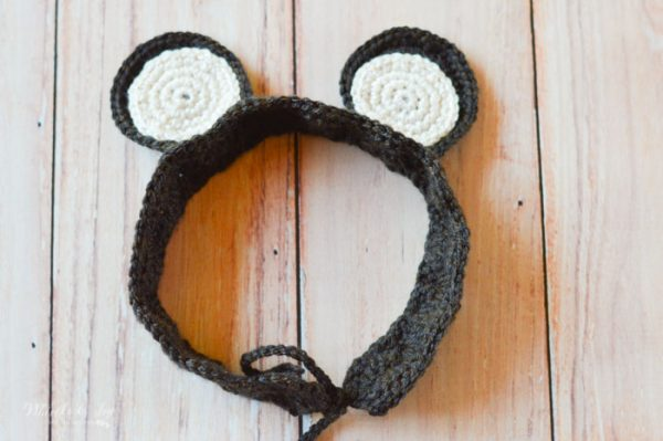 crochet bear ears headband free crochet pattern