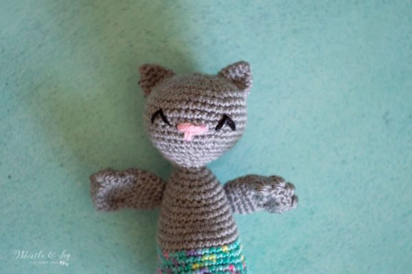 cute crochet cat merkitty mermaid