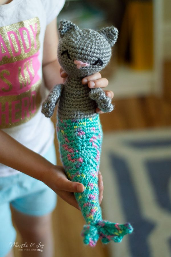 crochet pattern video for crochet cat mermaid