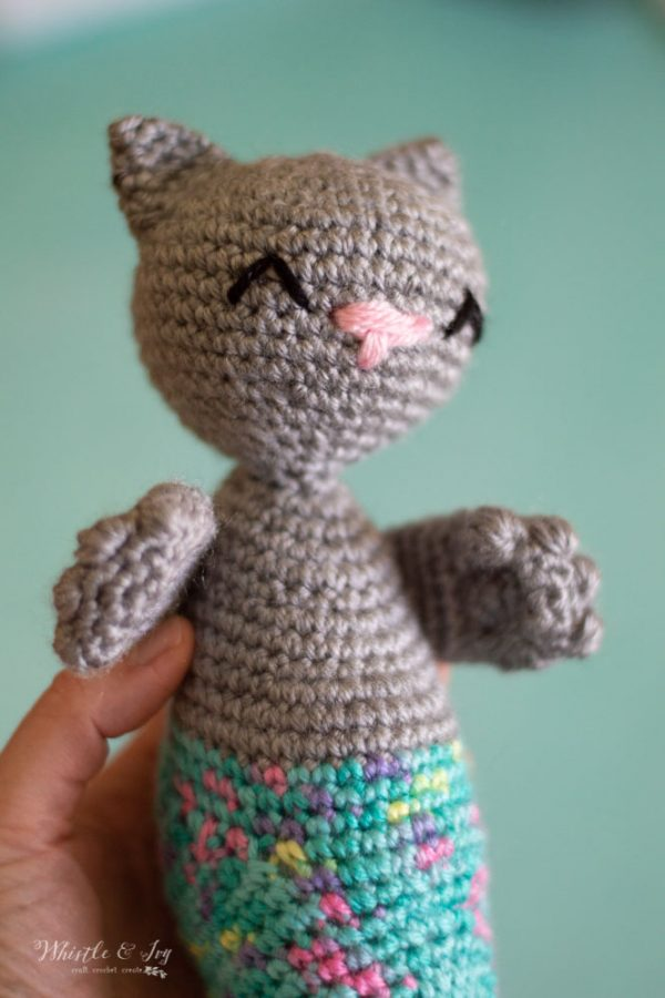 crochet cat mermaid merkitty pattern