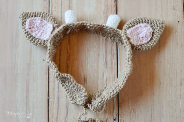 cute deer crochet pattern ears headband for kids and baby