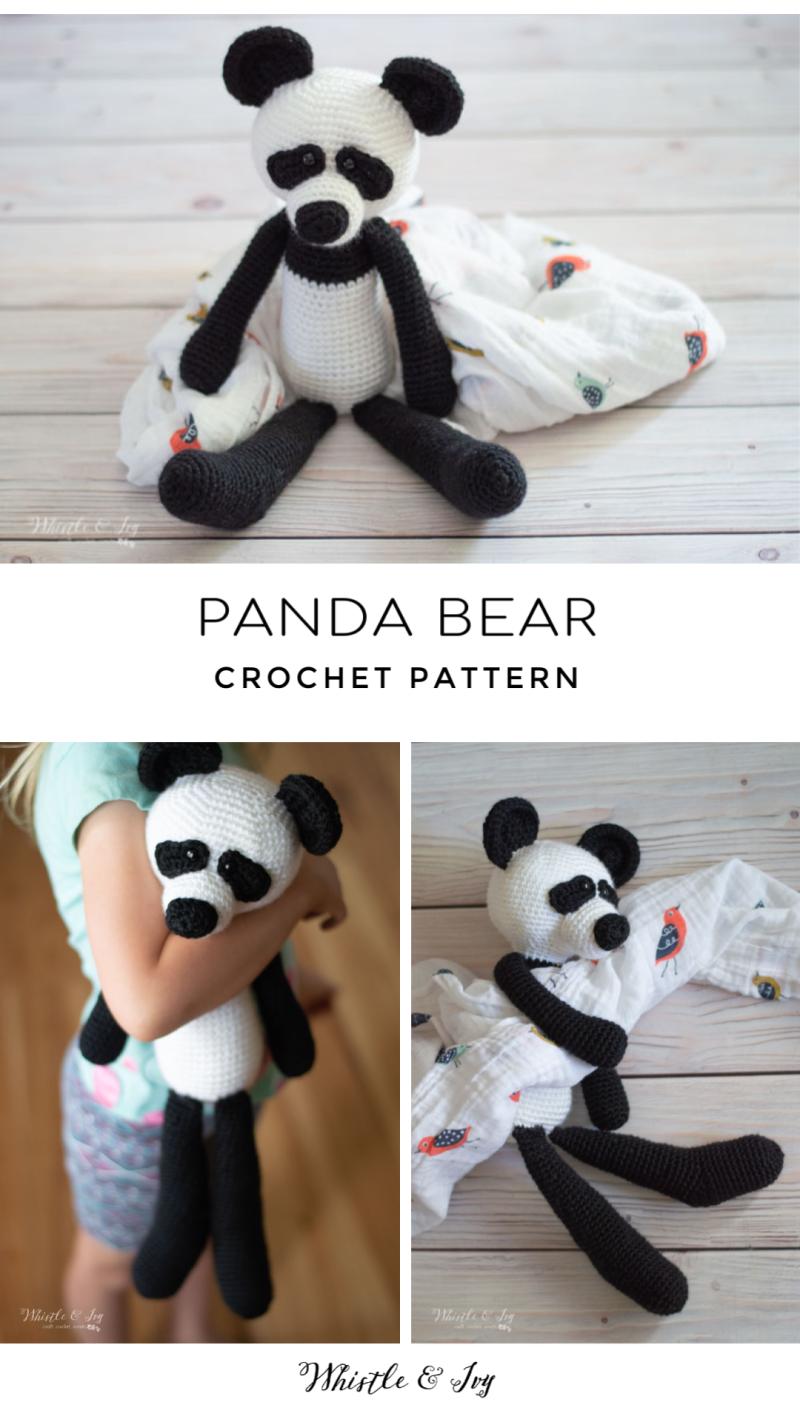 crochet panda bear crochet pattern easy crochet amigurumi