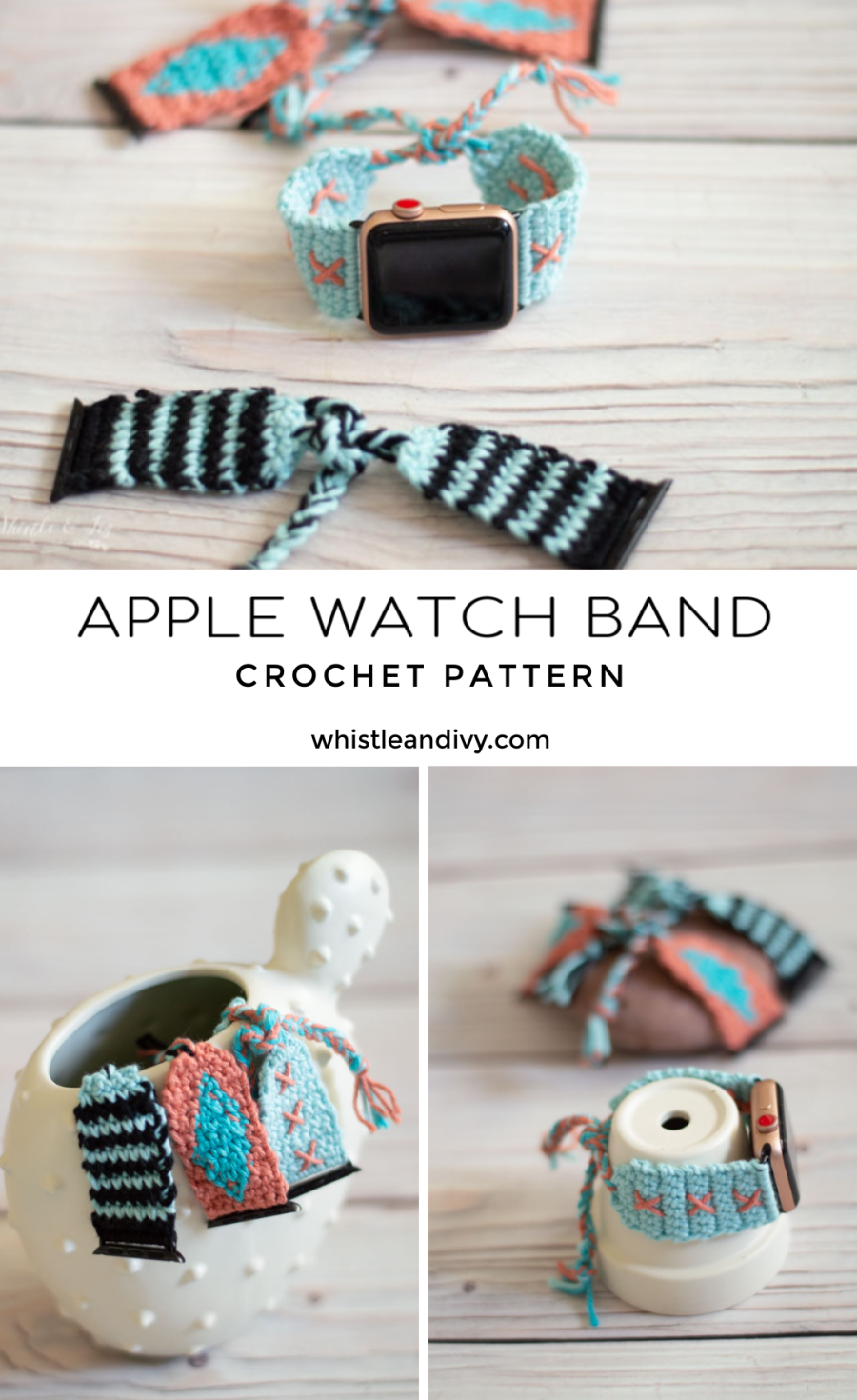 diy crochet Apple Watch bands crochet pattern