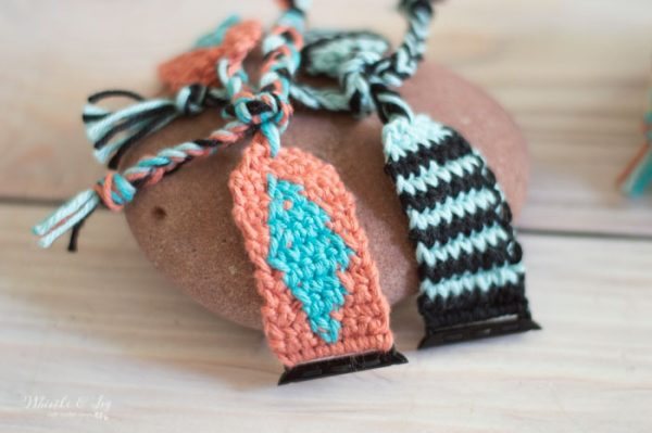 boho southwest diy crochet Apple Watch band crochet pattern