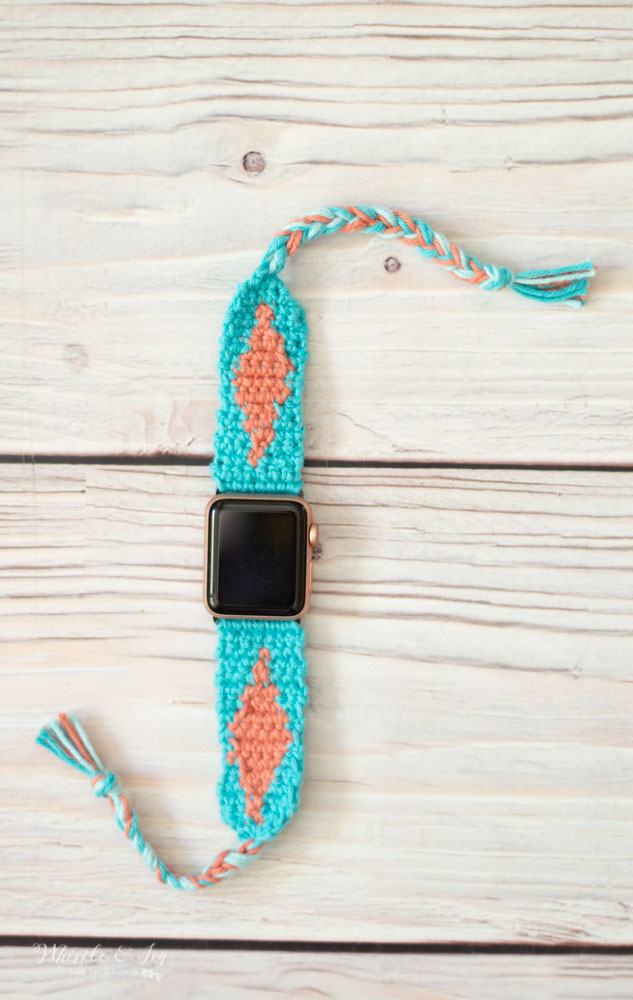 crochet Apple Watch pattern diy