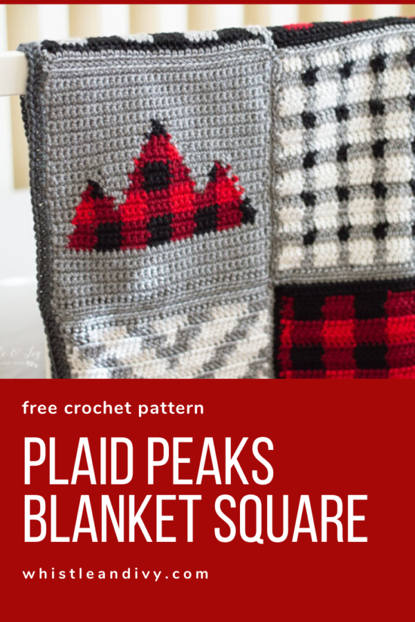 crochet plaid blanket mountain peaks free crochet pattern