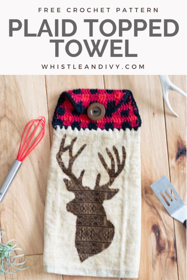 crochet plaid towel topper free crochet pattern