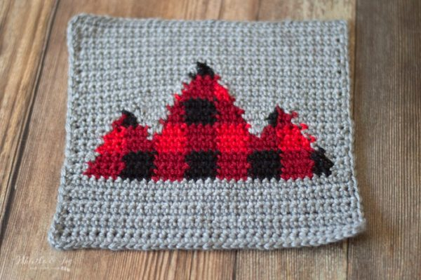 buffalo plaid mountain square crochet pattern