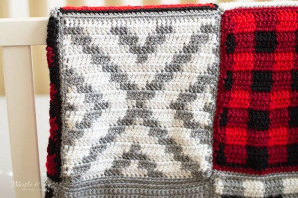 easy geometric pattern square for crochet blanket free crochet pattern