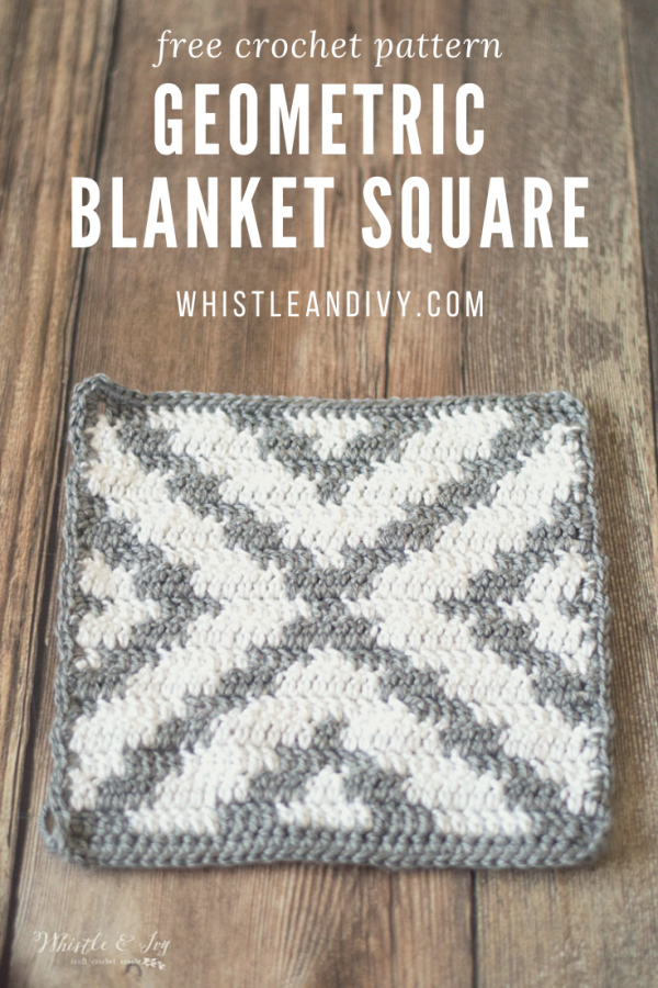 crochet geometric blanket square free crochet pattern