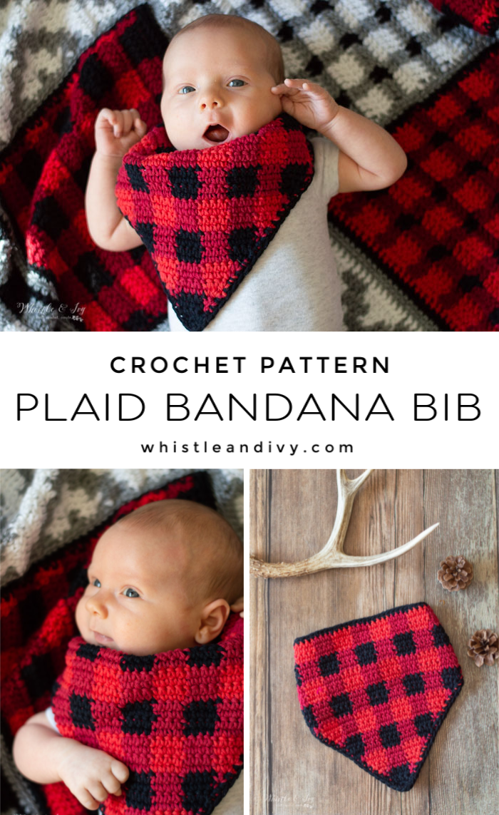 crochet plaid bandana crochet pattern