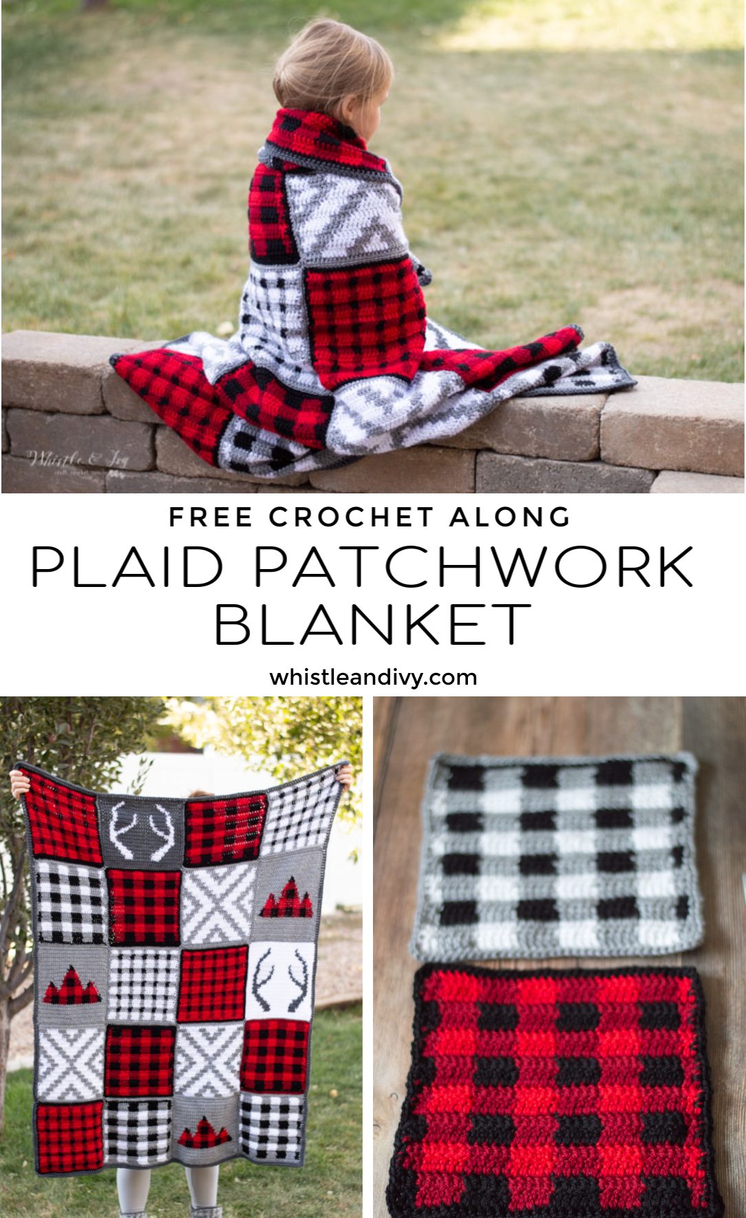 crochet plaid blanket afghan