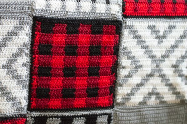 buffalo plaid afghan square free pattern