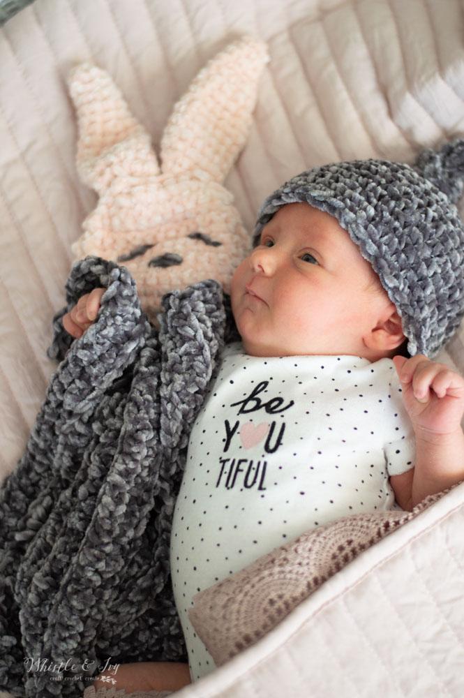 crochet velvet bunny lovey for baby free crochet pattern