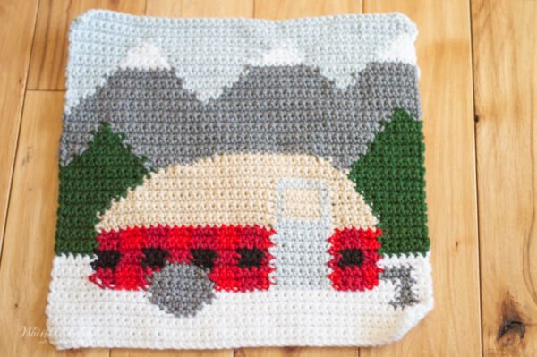 crochet plaid camper pillow free crochet pattern