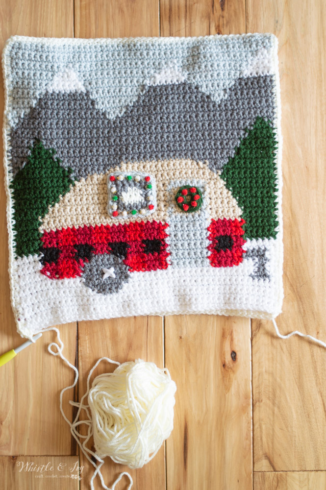 sewing together crochet plaid camper pillow free crochet pattern