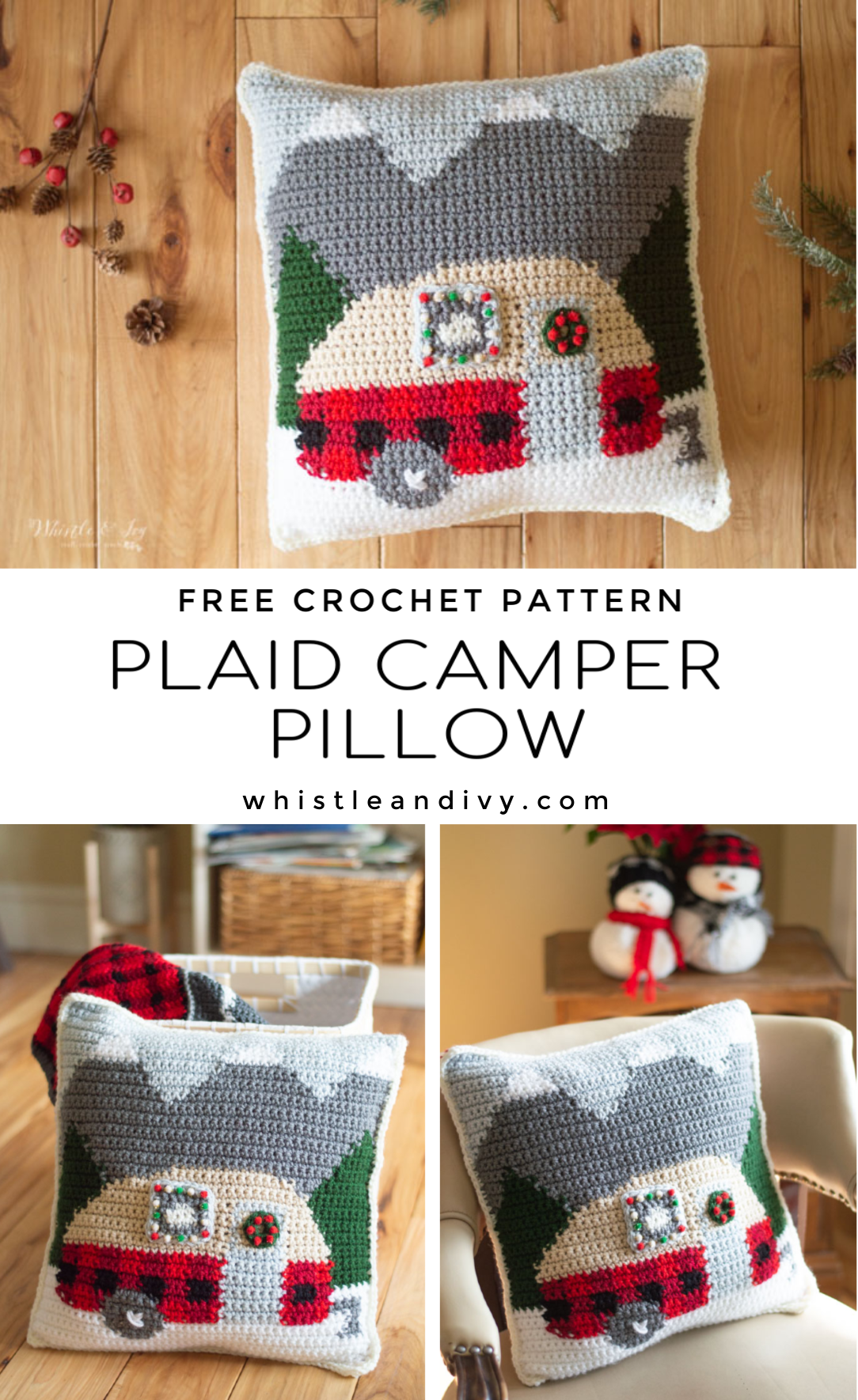 crochet pattern camper trailer pillow free crochet pattern