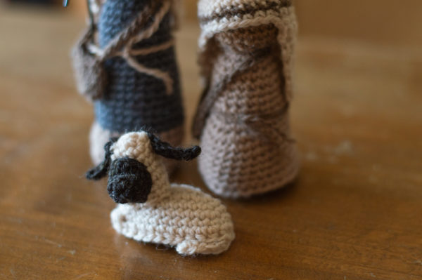 crochet nativity sheep free crochet pattern