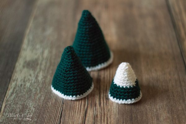 crochet cones for Christmas tree ornament