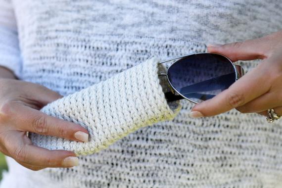 Crochet Pattern, Sunglass Case, Pouch, Easy, Beginner