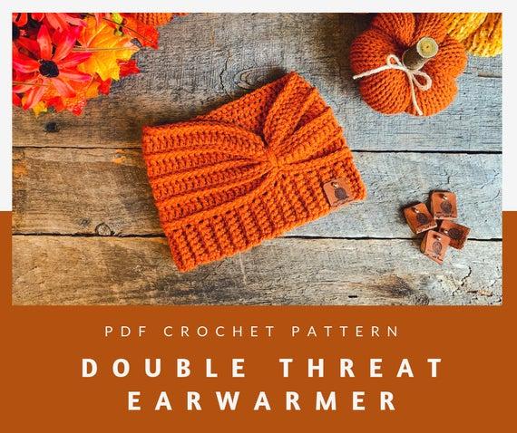 Double Threat Ear Warmer Crochet Pattern